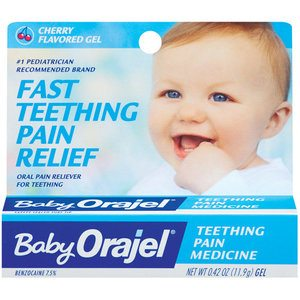 Baby Orajel - FDA says bezocaine and babies not a good mix.