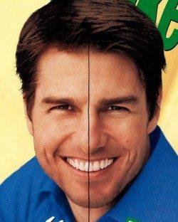 Tom Cruise – Asymmetrical Smile
