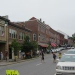 Rockland downtown on a summer day