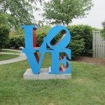 LOVE Art piece that is displayed outside in Rockland