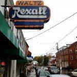 Main Street in Damariscotta Maine. Waltz Rexall