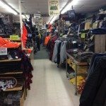 The inside of Renys store showing lot of clothes.