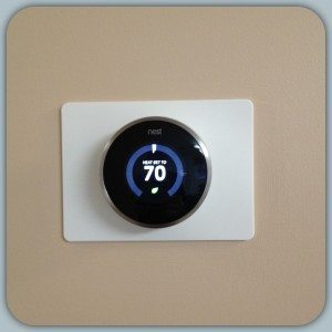 Our new Nest Thermostat installed in our office.