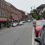 Main Street in Rockland, Maine during Maine Boats, Homes and Harbors Show