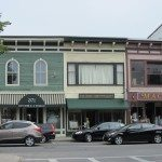 Local businesses on Main Street in Rockland, Maine
