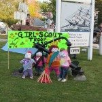 Even the girl scouts participated in the contest for best scarecrow!