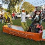 Town employees worked on this entry into the scarecrow contest.