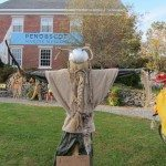 Scarecrows galore! This guy has a quite a beard!