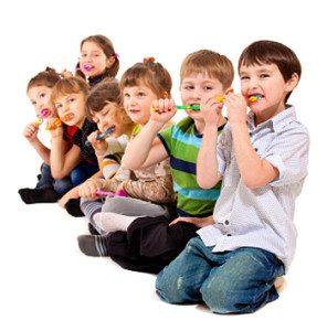 Healthy teeth with flouride