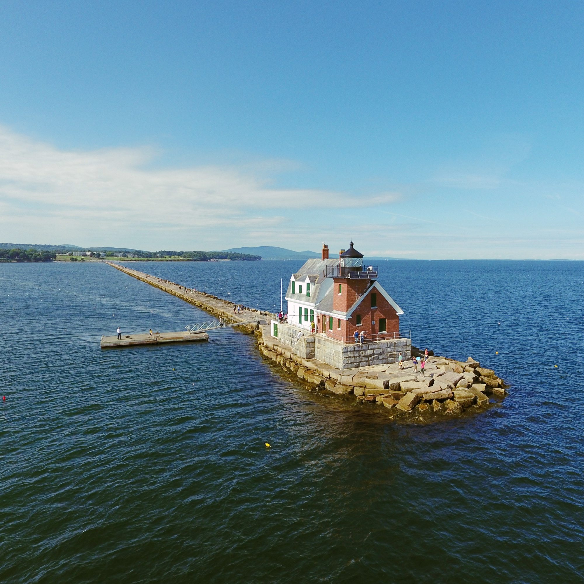Breakwater Lighthouse Rockland Maine