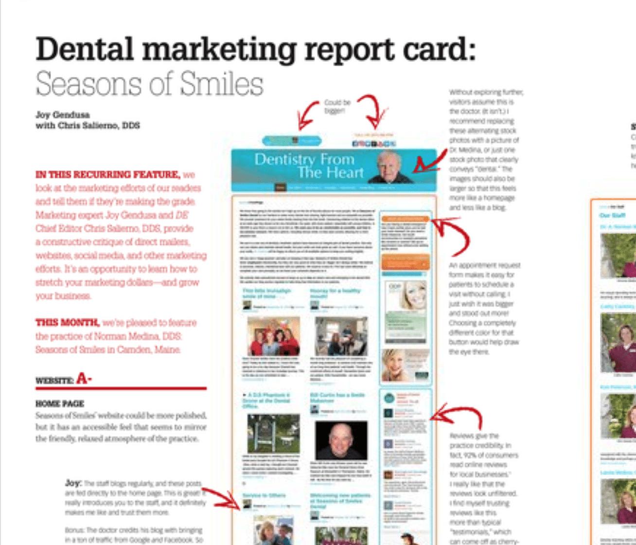 Dental Economics Report Card – Seasons of Smiles