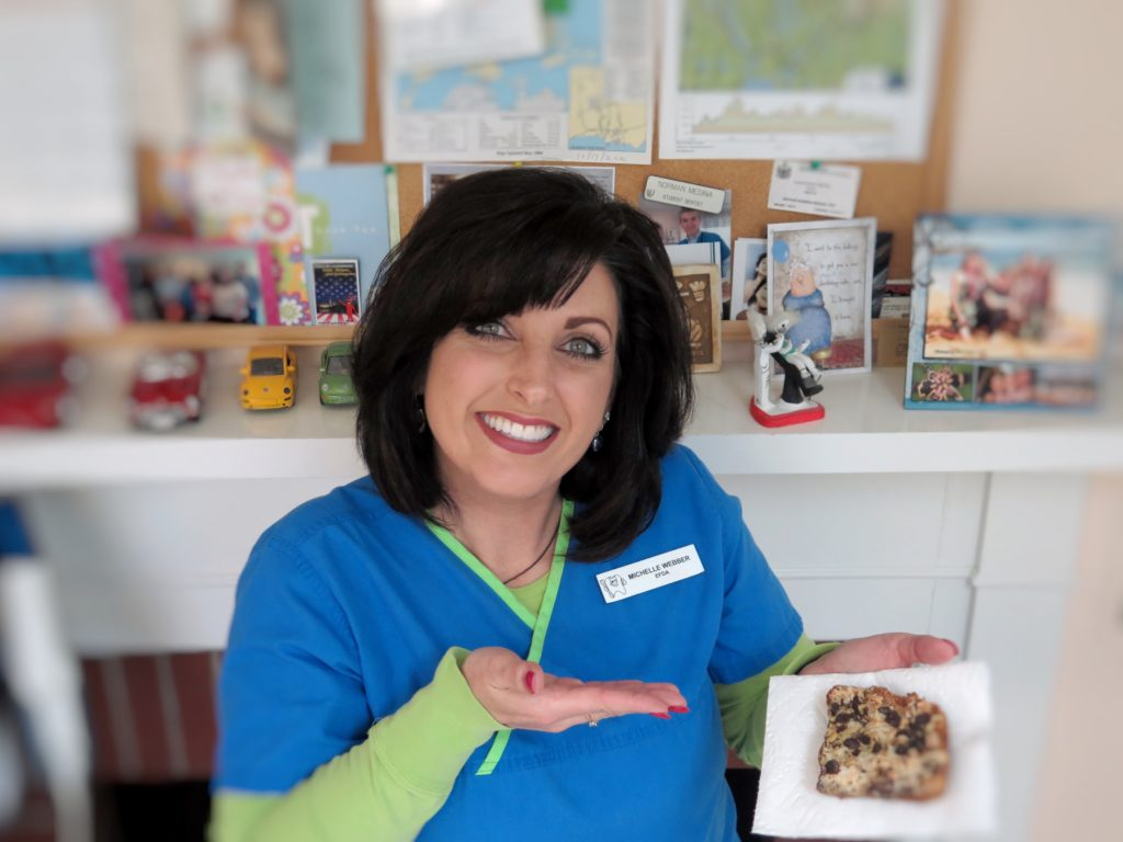 Michelle Colson Webber knows that she should abstain from all magic bars.