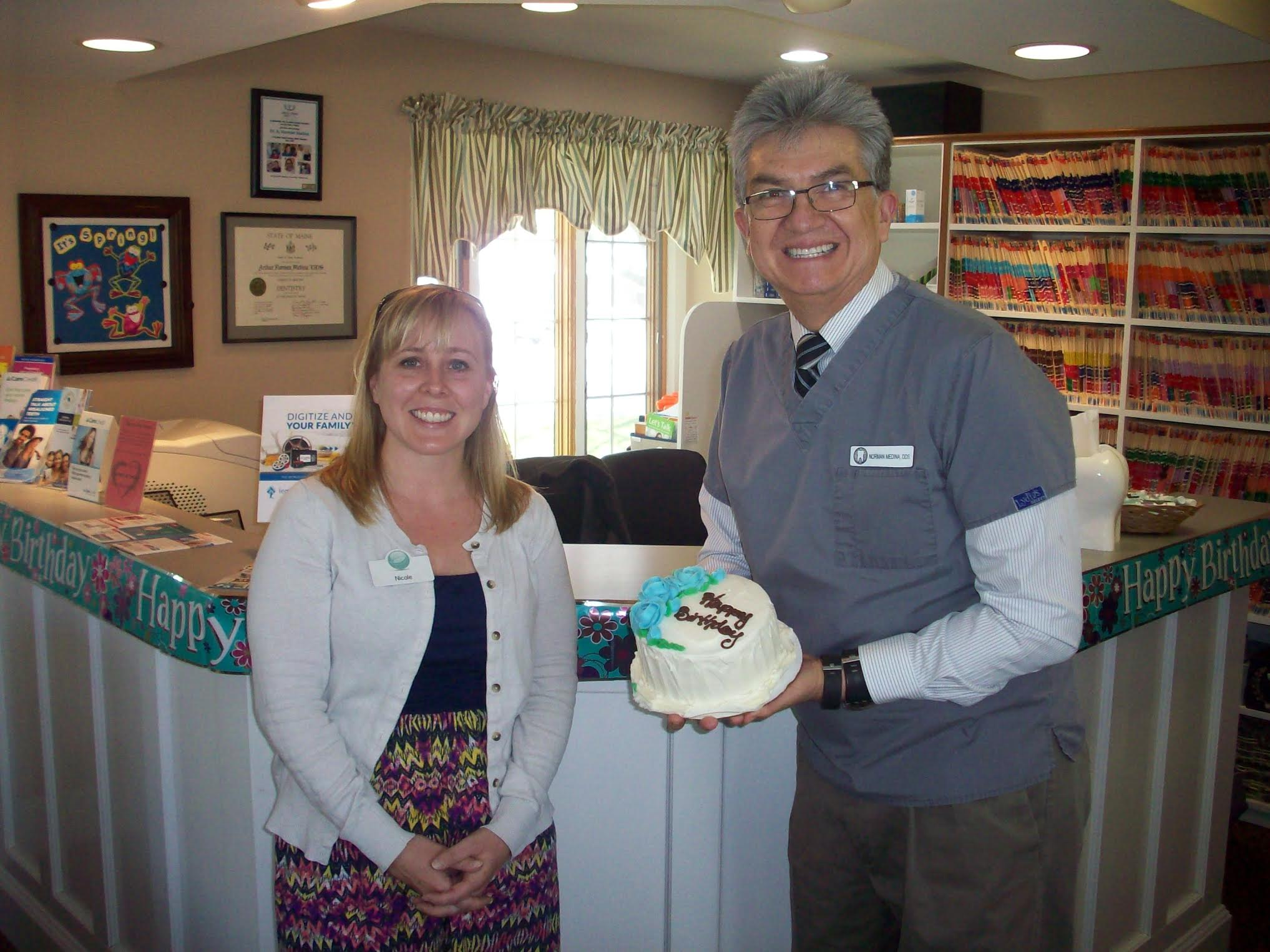 Birthday cake for me? Thank you Dr. Laliberte and staff.