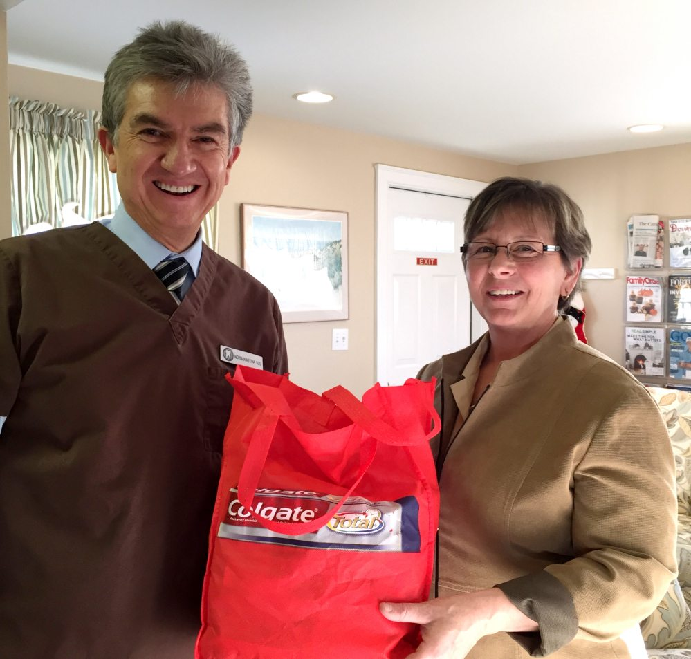 Noreen Clark with Quarry Hill pays a visit