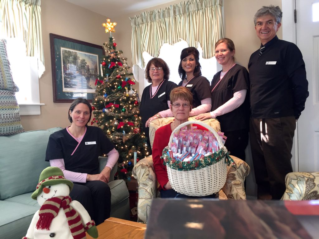 Rona Emery with Santa's Elves Project 2016