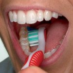 Learning how to brush like a boss with the American Dental Association. (3 of 6)
