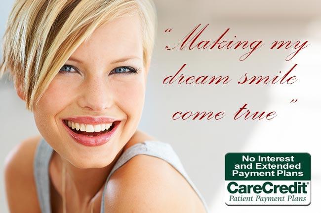 Care Credit - Making my dream smile come true.