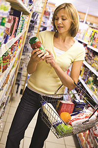 Read food and drink labels so you can choose options that are low in sugar.